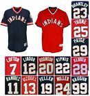 Men's Cleveland Indians 1976 Throwback Replica Pullover Jersey Stitched Navy/Red on Ebay