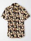 NWT MENS SIZE XL AMERICAN EAGLE OUTFITTERS HAWAIIAN SHORT SLEEVE BUTTON UP SHIRT