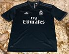 ADIDAS Real Madrid Away Grey White S/S Replica Soccer Jersey NEW Youth M 10 / 12