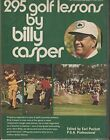 295 golf lessons by Casper, Billy Book The Cheap Fast Free Post