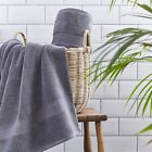 Silentnight Luxury 100% Cotton Towel Pair Hand Bath Towel Bath Sheet Charcoal
