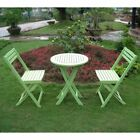 Outdoor Furniture Set Patio Deck Garden Bistro Wood Folding Green Table Chairs