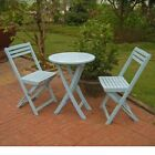 Outdoor Furniture Set Patio Deck Garden Bistro Wood Folding Blue Table Chairs