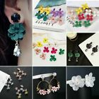 Bohemia Painting Flowers Droplet Tassel Ear Stud Earrings Jewelry For Women Hot