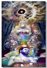 Poster Psychedelic Trippy Colorful Ttrippy Surreal Abstract Astral Art Print 87
