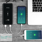 US FDGAO Qi Wireless 20000mAh Power Bank 2USB LCD Battery Charger For Cell Phone