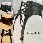 Steampunk Leather Boron Collar Vintage Gothic Medieval Retro Cosplay Accessories