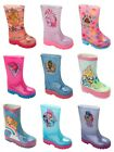 GIRLS OFFICIAL CHARACTER WELLIES WELLINGTON RAIN SNOW WELLYS BOOTS CHILDREN SIZE image