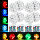 Led Lights Battery Operated 8X Remote Control Colored LED Waterproof EFX Accent