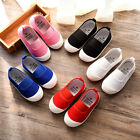 Kids Candy-colored Elastic One-legged Canvas Shoes Non-slip Casual Fashion Shoes