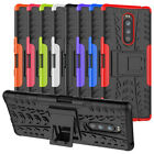 For Sony Xperia 1 Case Rugged Armor Hybrid Shockproof Kickstand Cover  Film