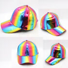 Unisex Bright Color Leather Hip-Hop Patent Snapback Hat Adjustable Baseball Cap