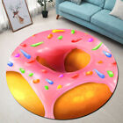Abstract Donut Pattern Area Rugs Kids Bedroom Carpet Living Room Round Floor Mat