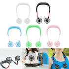 US Portable USB Rechargeable Neckband Lazy Neck Hanging Dual Cooling Mini Fan 03