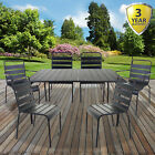 5pc/7pc Bistro Sets Outdoor Garden Patio Furniture Slatted Grey Table & Chairs