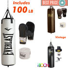 Kyпить Everlast Punching BAG Kit Gloves Hand Wraps Training MMA BOXING SET 100 LB Pound на еВаy.соm