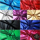 Plain Metallic Lycra, 95% Poly, 5% Spandex, 9 Colours, 145cm Wide, Costume,Party