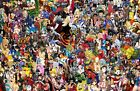 Anime / Cartoon / Game Collage Poster - DBZ Naruto Marvel DC + More 11x17 13x19
