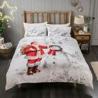 Sleepdown Father Christmas Scene Bedding Set | Christmas Duvet Sets & Pillow ...