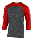 Troy Lee Designs Ruckus Block Mens Bicycle Jersey Heather Gray/Red