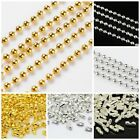 5m 1.5mm Or 2mm Ball Bead Chain Jewellery Necklace Dog Tag Making Connectors