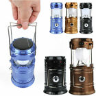 Solar Rechargeable LED Camping Lantern Outdoor Night Light Lamp Power Big Size