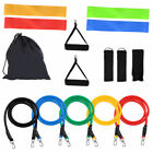 New Resistance Tube set Band Yoga Pilates Abs Exercise Fitness Workout Bands set