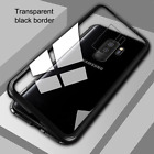 For Samsung Galaxy  S9  S8  Case Magnetic Adsorption Metal Bumper