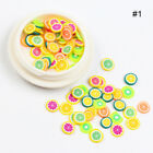 3D Nail Art Soft Polymer Clay Fruit Slices Cartoon For Nail Art Stickers Decor