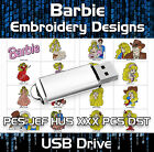 Barbie PES JEF HUS XXX PCS DST Machine Embroidery Design files on USB