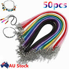 50pcs Leather Cord Lobster Clasp Fit Pendant Necklace Chains Diy Jewelry Making