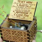 Fashion Wooden Music Box Hand Clockwork Birthday Party Gift'You Are My Sunshine'