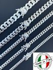 Kyпить Real Miami Cuban Link Chain Or Bracelet Solid 925 Sterling Silver Box Lock ITALY на еВаy.соm