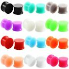 3MM - 25MM SILICONE EAR PLUG TUNNEL PIERCING FLESH RETAINER BLACK SKIN HIDER