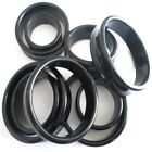 18MM - 50MM EAR PLUG TUNNEL ACRYLIC SADDLE PLUG STRETCHER BIG GAUGE TAPER BLACK