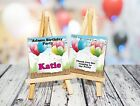 Personalised Name Place holders/Party bag gifts,Pack of 4 Chocolate Neapolitan's