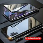 For Samsung Galaxy Note 10 Plus 5G Magnetic Metal Double Glass Case Cover 2019