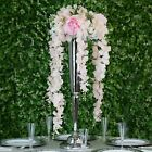 "45"" tall Hanging Artificial Wisteria Flowers Vine Garland Plant Wedding Party"