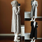 Long Sleeve Knitted Hood Cardigan Coat Jacket Women Sweater Outwear Plus Size