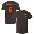 Baker Mayfield T-Shirt Cleveland Browns NFL Regular/Soft Jersey #6 (S-3XL) $16.95 USD on eBay