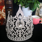 18.5cm High Crystal Huge Tall Tiara Crown Wedding Bridal Party Pageant Prom