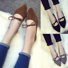 Shallow Mouth Straps Bow Single Shoes Women Pointed Breathable Thin Shoes Flats
