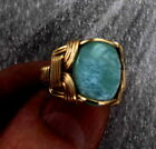 Kyпить Larimar Gemstone Ring in  14kt Rolled Gold    Size 5 to 15   Wire Wrapped на еВаy.соm