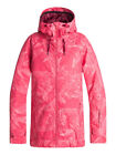 Roxy Valley Hoodie Tea berry Washed Floral Womens Snowboard Ski Jacket NEW