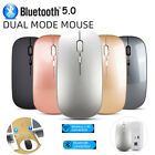 Rechargeable Wireless Mouse Bluetooth 5.0 USB Dual Mode Gaming Mice For Laptop