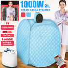 1000W 2L Steam Sauna Portable Spa Home Full Body Slimming Tent Fold Indoor Detox