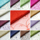 "54"" wide x 30 feet EMBROIDERED SHEER ORGANZA FABRIC DIY Crafts Sewing Costumes"