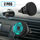 2x Car Mount Air Vent Magnetic Phone Holder 360 Rotation For iPhone Galaxy GPS