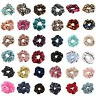 Velvet Scrunchies Hair Ties Ponytail Bun Holder Stretch Elastic Rubber Band. for sale  Shipping to Canada
