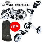 Skymax Qwik Fold 3.0 Golf Trolley White/White NEW! 2019 +*FREE TRAVEL BAG!*